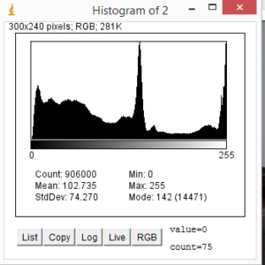 Istogramma di Analisi dei livelli di una immagine